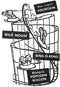 Wild Mouse, Bing-O-Reno, Popcorn Wagon