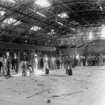Construction on dance hall at Majestic Park, 1916.