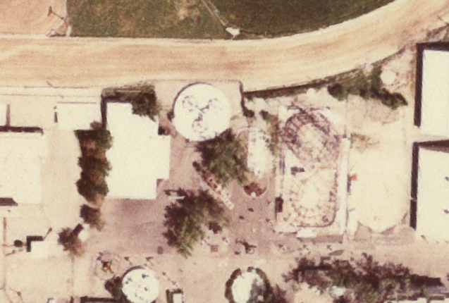 This 1983 aerial photo shows Tri-Star between Boomerang and Sky Ride. Photo: Utah Geological Survey