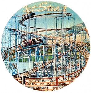 Photo of Jet Star 2 at Lagoon in a 1976 park brochure.