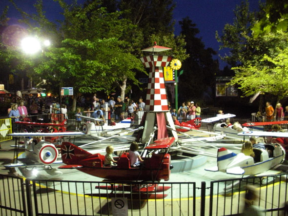 Red Baron at night.