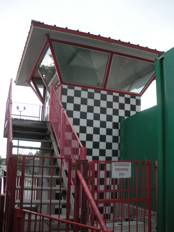 Top Eliminator's control tower in 2014 before being torn down for the new Cannibal plaza. Photo: B. Miskin