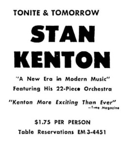 From the newspaper ad announcing the concerts, 24 August 1962.