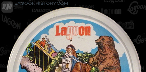 The 1971 logo on a souvenir tin tray from 1976.