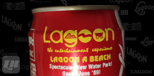 Early version of the current logo on a 1989 Coca-Cola can.