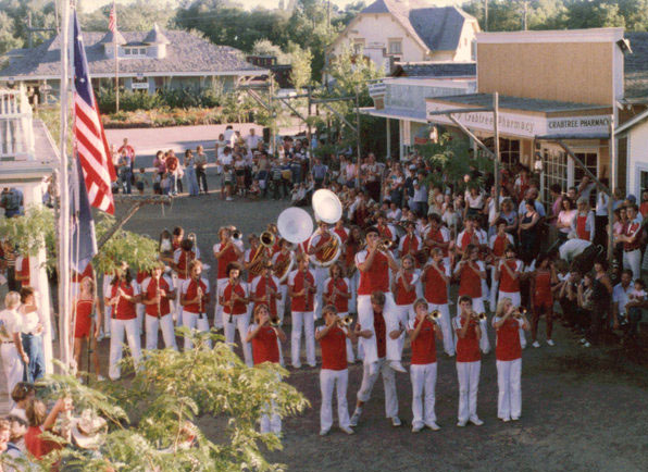 The Lagoon Show Band performs on Main Street in Pioneer Village in 1980. Photo: Gary Thomas Ogden