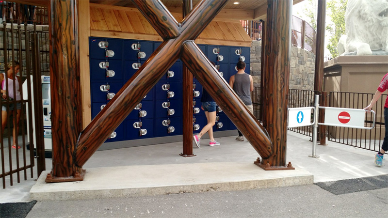 New lockers replaced the cubby system at Cannibal. Photo: B. Miskin