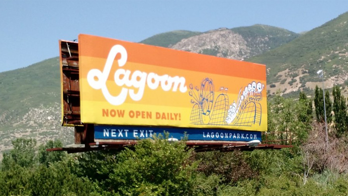 New billboard south of Lagoon.