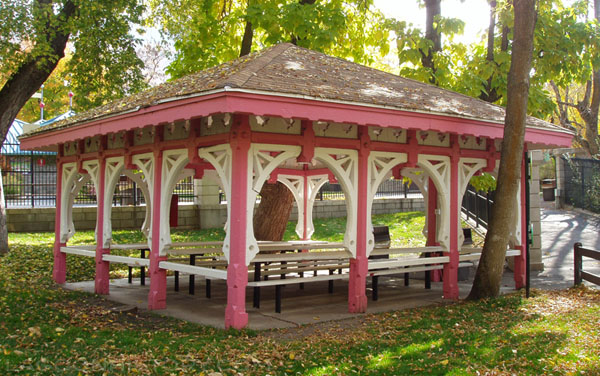 Rose Terrace in 2005, originally constructed in 1886 as part of the Lake Park Dancing Pavilion. Photo: B. Miskin