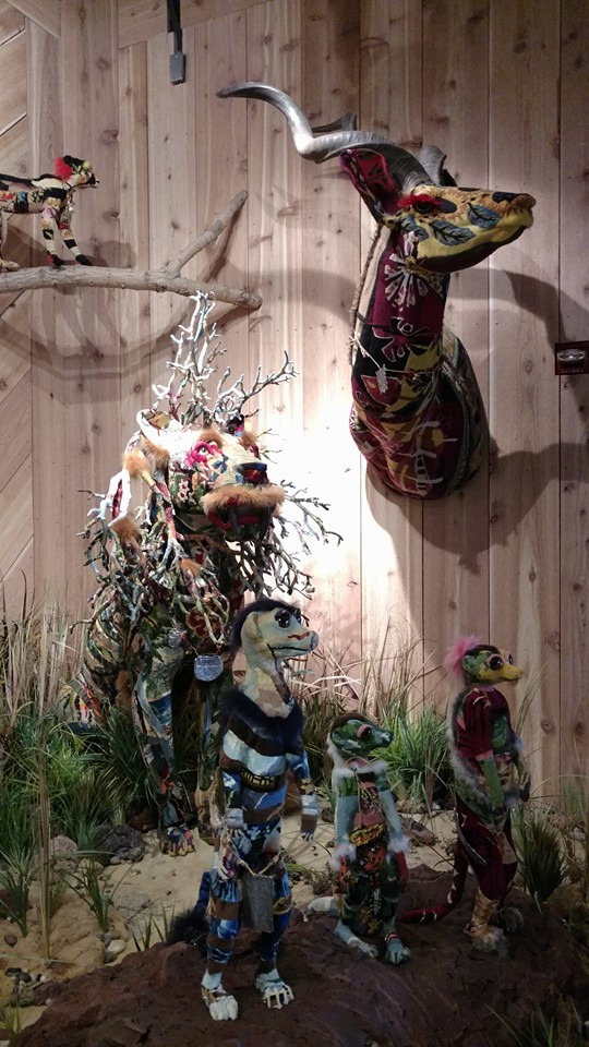 "This interesting ""wild""life display popped up in the Cannibal gift shop around the middle of August. Photo: B. Miskin"