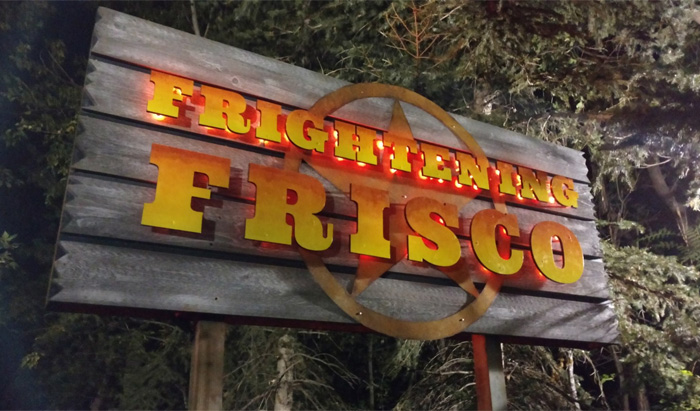 Frightening Frisco now resides in Pioneer Pavilion on the way to Rattlesnake Rapids. Photo: B. Miskin